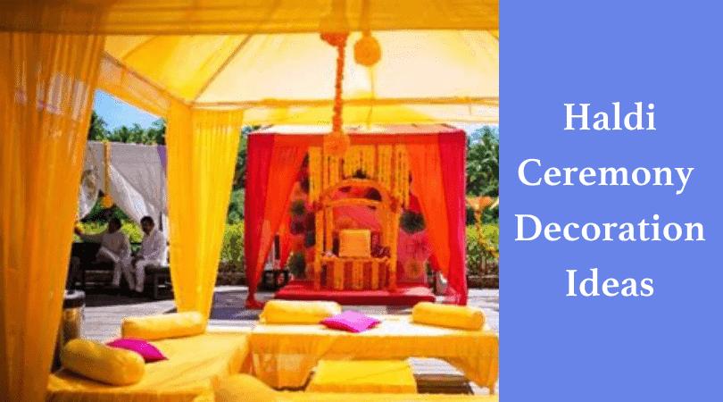 Haldi Ceremony Decoration Idea