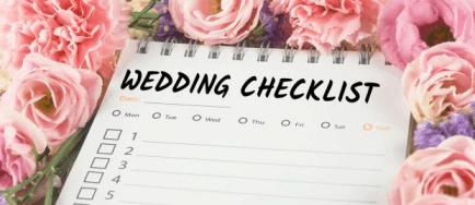 wedding checklist 2020