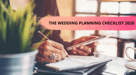 wedding planning checklist 2020