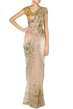 Net and Sequins Saree