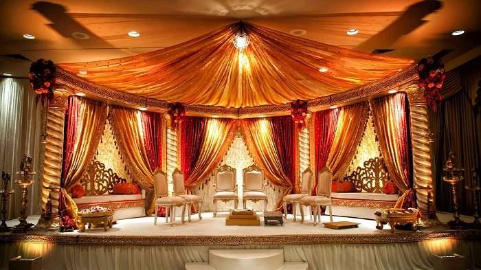 Decorations in wedding