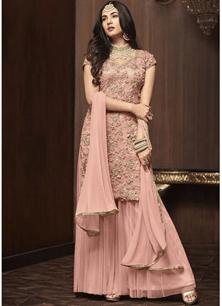 Look elegant with a mesmerizing sharara suit