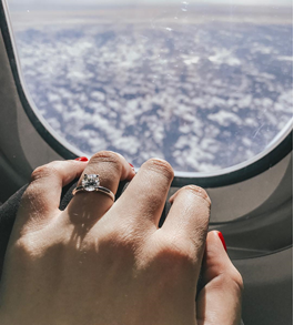brides-flaunting-engagement-rings-aeroplane
